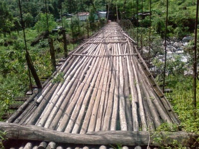 Bamboo Bridge in Sitong